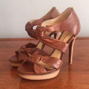 "Alexandre Birman Saddle Brown Sandals w/5"" Heel"